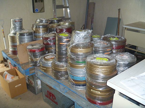 Preparing nitrate films for transport to the new vault.