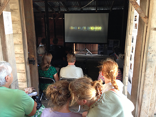 One of the daytime screenings in the smaller downstairs space at Maraekakaho.