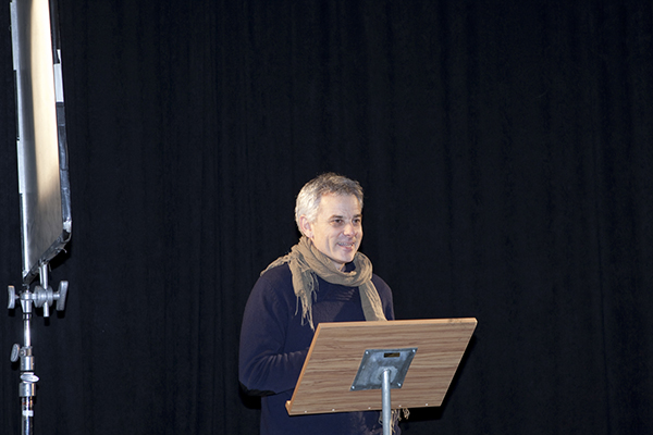 Ward speaking during celebrations for his Honorary Doctorate.
