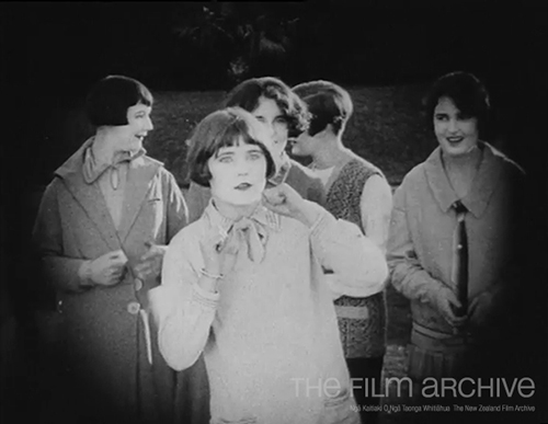 Miss New Zealand 1927 contestants acting Expectation in Who's For Hollywood? (click to view clip)