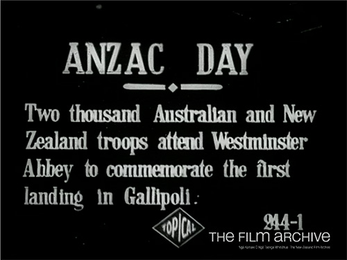 Review of New Zealand Troops by Hon Walter Long (1917)