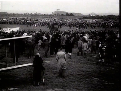 Crowds gathered in Auckland, awaiting her arrival.