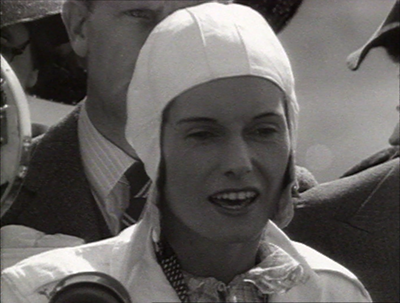 Batten addresses the media in Australia, before her final leg across the Tasman Sea.  Image: Jean Batten - Garbo of the Skies (Ian MacKersey, 1988).
