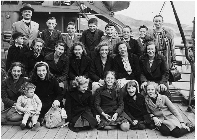 Evacuees to New Zealand, 1940. (The National Archives UK DO 131/15