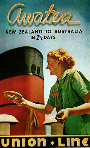 Publicity poster for the Awatea. Courtesy of Cruising the Past.