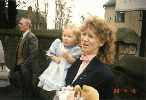 One of our archivists with her Mum, at a wedding in 1988. Who knew they made shoulder pads for babies?!