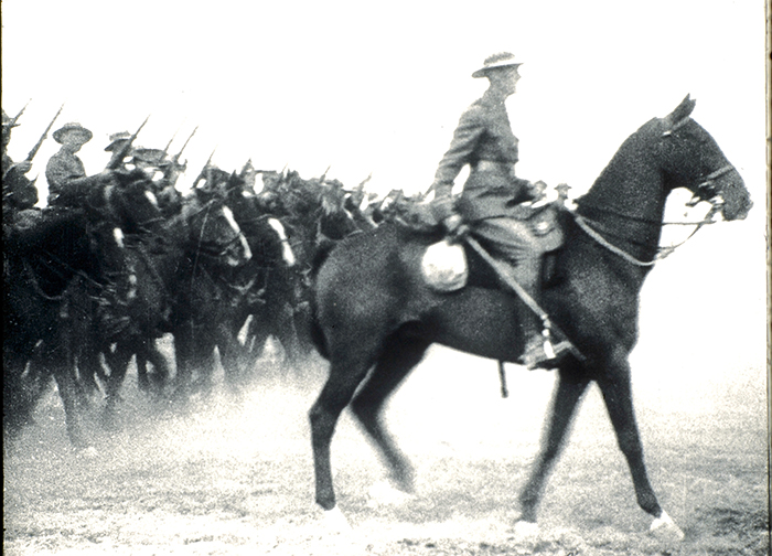 Inspection of the New Zealand and Australian Division in Egypt (March 1915).