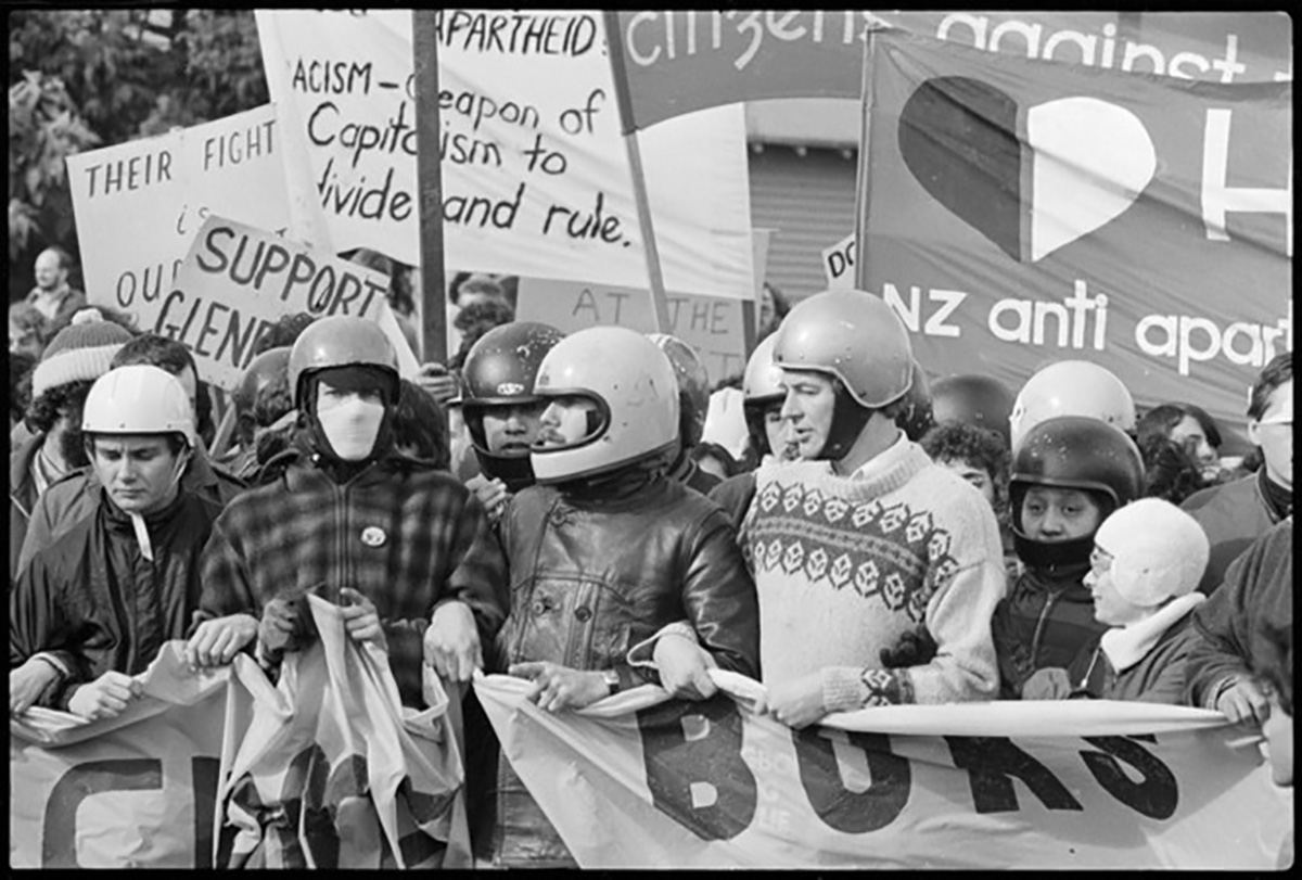 Protesters In Hamilton During A Demonstration Against The 1981 Springbok Tour