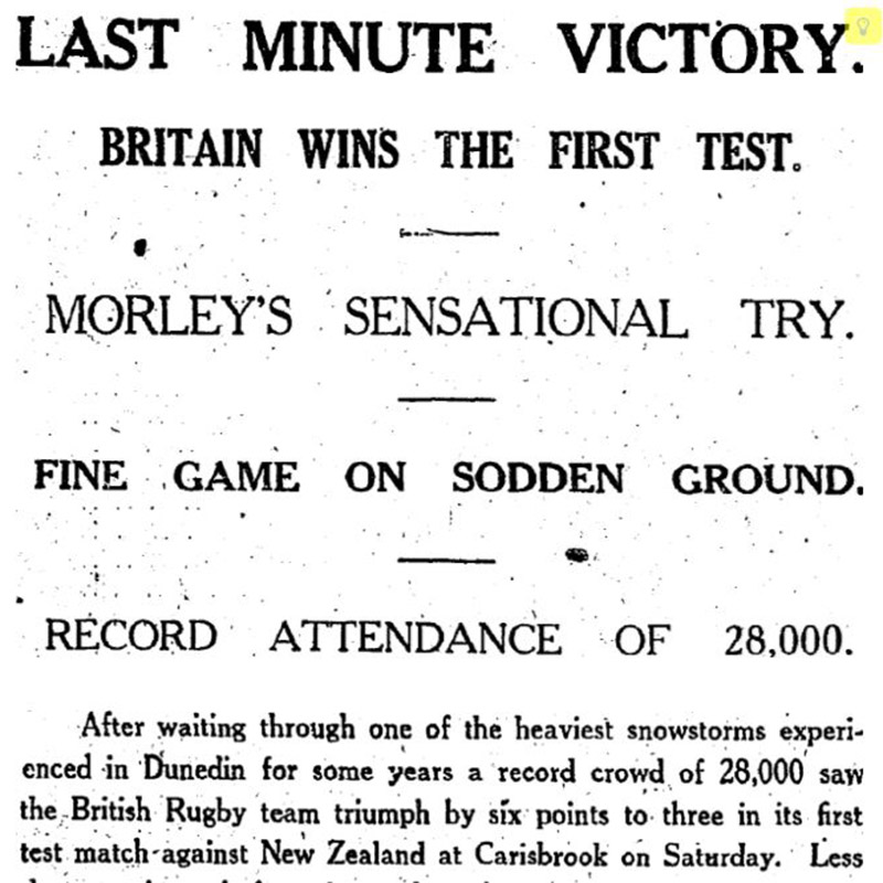 All blacks rugby lions tour 1930