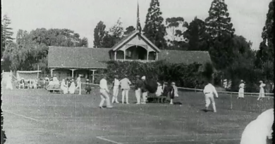 Do you recognise this bowling and tennis club pavilion? Screen grab from The Land We Live In (1919)
