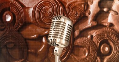 Microphone in front of carving