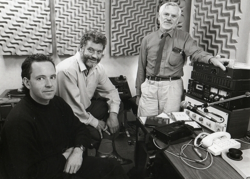 Spectrum team 1980s Jerome Cvitanovich, Jack Perkins and Alwyn Owen